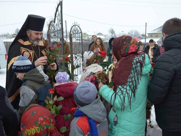 У М'ясопусну неділю владика Василій (Івасюк) очолив Божественну літургію в с.Лісний Хлібичин