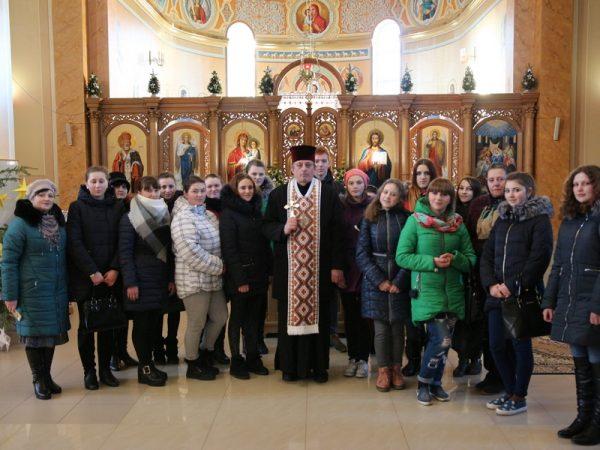 Зустріч із студентами ліцею в храмі Зіслання Святого Духа м.Отинія