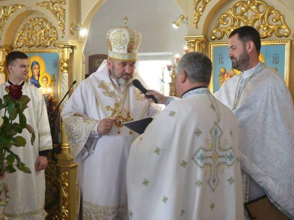 Владика Василь (Івасюк) привітав о.Івана Петруняка із 60-ти літнім ювілеєм