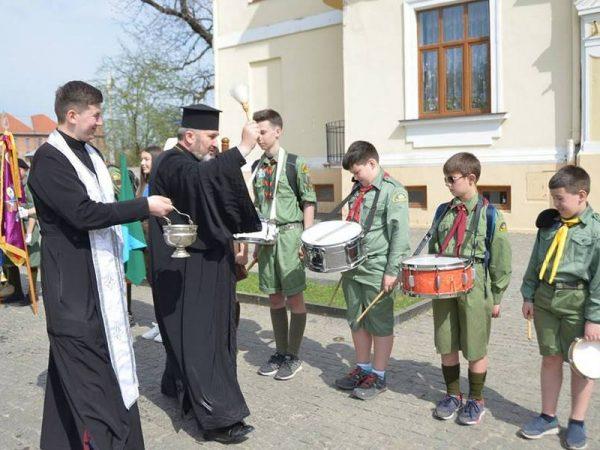 Владика Василій привітав пластунів із 106-ю річницею