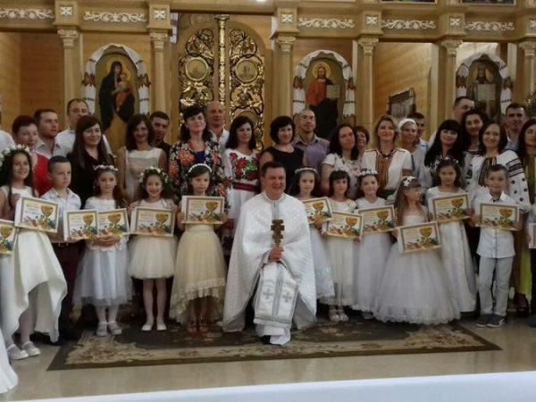 Свято урочистого Святого Причастя на парафії св.Василія Великого м.Косів