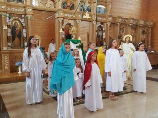 Недільний театралізований виступ від наймолодших парафіян м.Косова