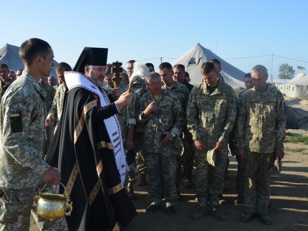 Тучинський полігон на Рівненщині відвідав владика Василій (Івасюк)
