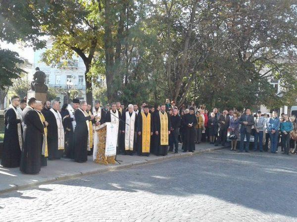 Молебень за щасливу долю коломиян та жителів Коломийщини біля ікон Євангелистів-покровителів міста Коломиї