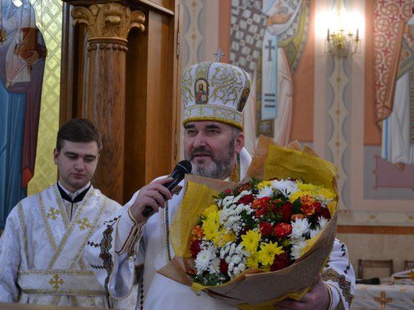 Владику Василія привітали з іменинами в Катедральному соборі м.Коломиї