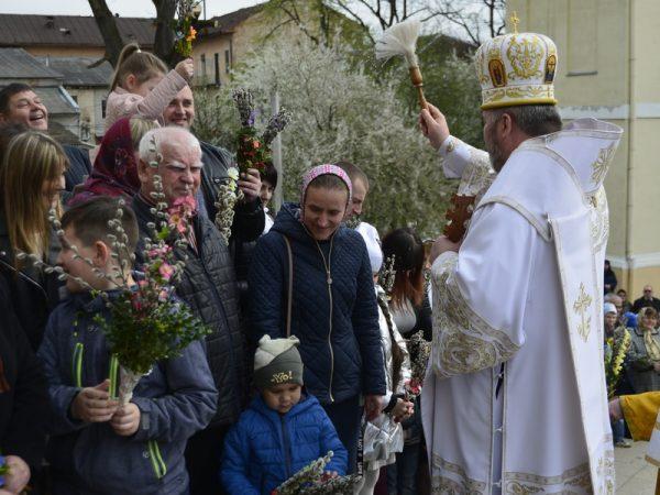 Вербна неділя у Катедральному соборі м. Коломиї