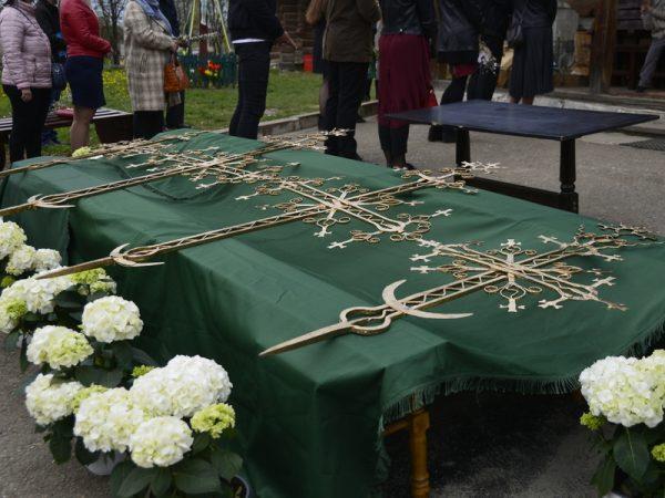 Освячення накупольних хрестів для храму Благовіщення м.Коломиї (відео)