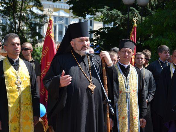 Владика Василій поблагословив військових, що повернуся зі Сходу