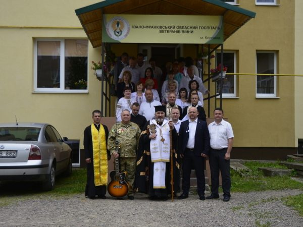 Освячення каплички у військовій лікарні м. Коломиї