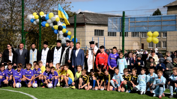 Освячення спортивного майданчика в смт. Печеніжин (відео)
