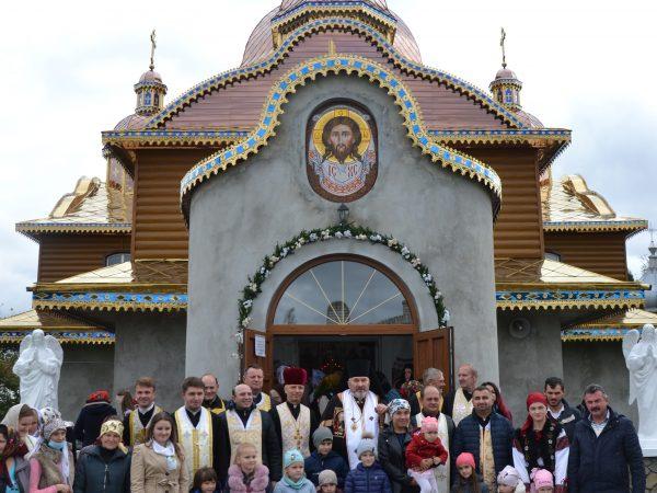 Освячення нового розпису в храмі с. Стецева