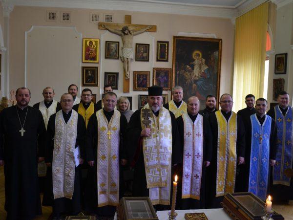 Працівники єпархіальної курії подякували Богу за прожитий рік