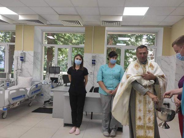 У Городенківській Центральній Районній Лікарні освятили відділення екстреної медичної допомоги.